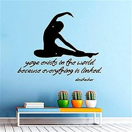 Amazon.com: Vinyl Art Room Mural Posters Yoga Exists in The ...
