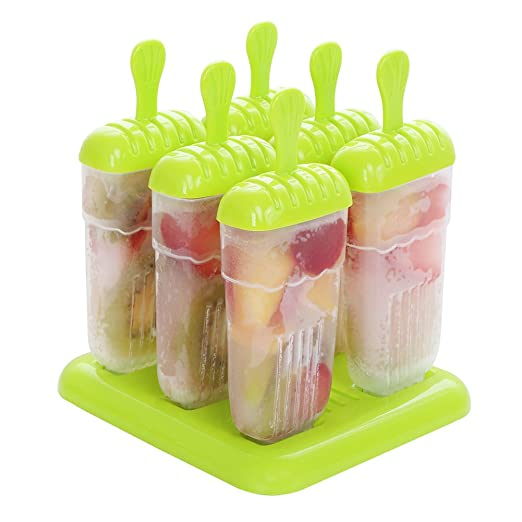 aimdonr Pop sicle Formas Set - sin BPA - 6 Hielo Pop Boilermakers ...