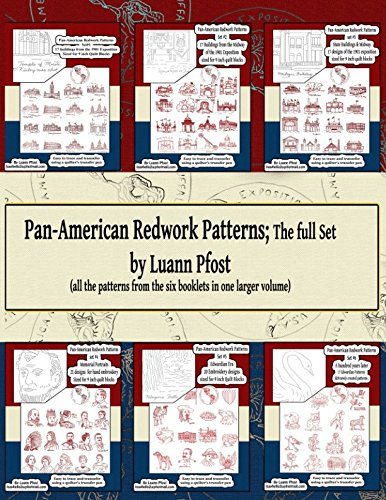 Pan-American Redwork Patterns ; the full set: all the patterns from the six booklets in one larger volume