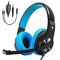 Vobon Gaming Headset für PC PS4 Xbox One, Gaming Kopfhörer Noise Cancelling, Gaming Headphones over Ear Stereo mit Mikrofon für Laptop Mac Handy Tablet Telefon
