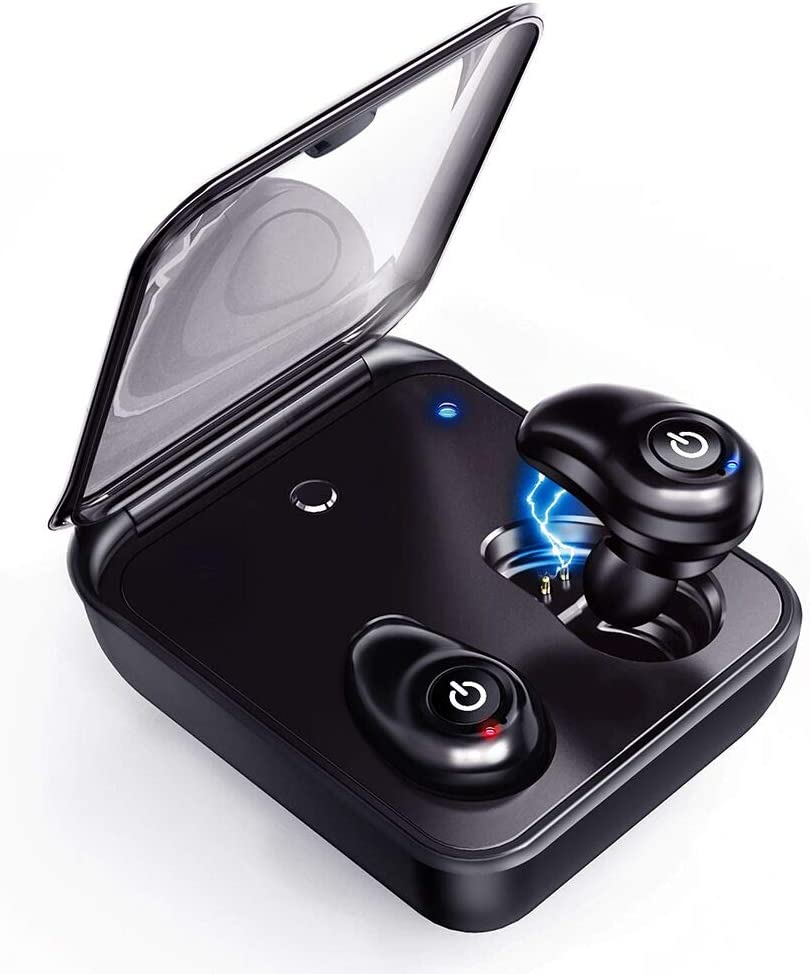 Updated Version Wireless Earbuds, Bluetooth 5.0 Cordless Wireless Earbuds with Mic for Android iOS, Hi-Fi Stereo, Auto Pairing Earphones with 2000mAh Charging Case as Power Bank by Relaxyo
