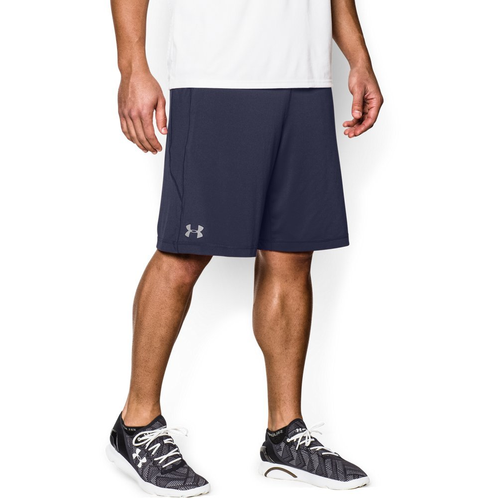 Under Armour Men's Raid 10'' Shorts, Midnight Navy /Steel, Small Tall