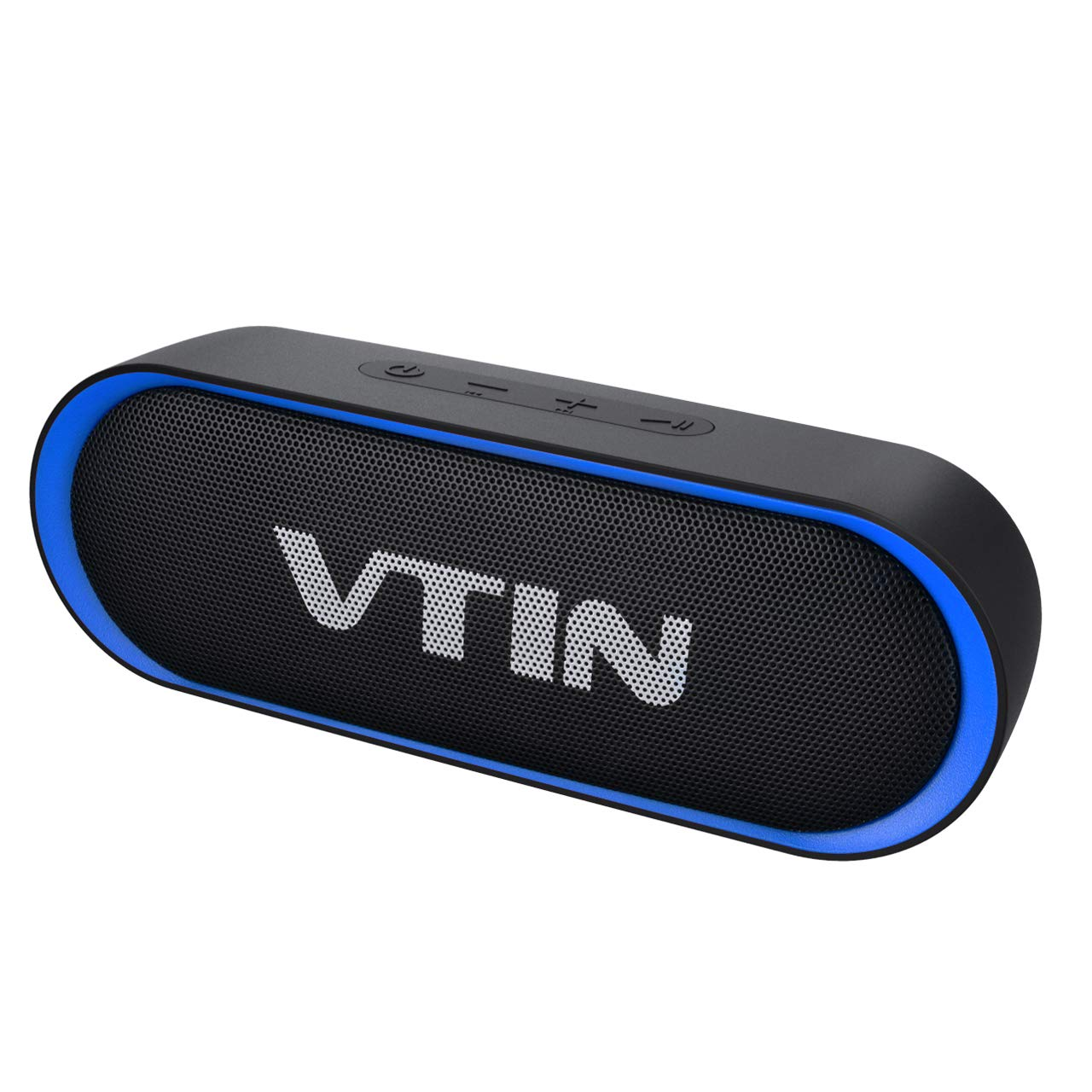VTIN R4 Bluetooth Speaker V5.0, Portable Bluetooth Speaker with 24H Playtime, Loud Stereo Sound, 10W Powerful Waterproof Speaker, Built-in Mic, Support TF Card, Compatible for iOS, Android, PC