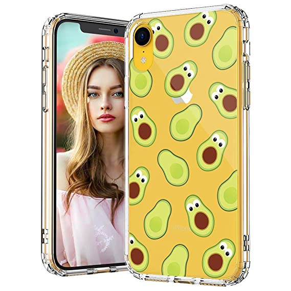 iphone xr phone case transparent avocado
