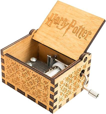 Harry Potter parte Reloj grabado de madera decorativa caja de ...