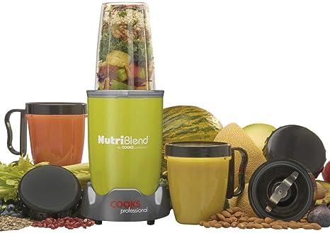 Cooks Professional Nutriblend Premium Blender Smoothie Maker Exprimidor con juego de accesorios y libro de recetas gratis, 700W (Verde): Amazon.es