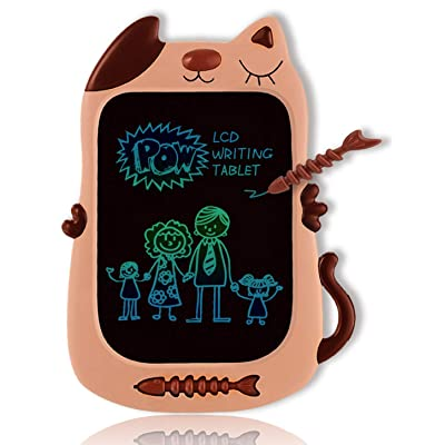 GJZZ LCD Drawing Doodle Board for 3-7 Year Old Girls Gifts,Writing and Learning Scribble Board for Little Kids - Light Brown: Office Products