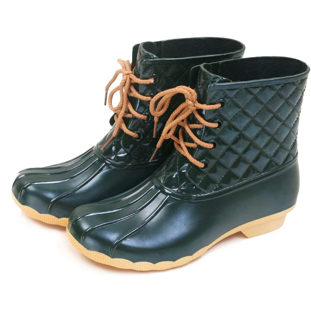 JOINFREE Mens Rain Shoes Mid High Calf Rubber Garden Shoes Outdoor Rain  Footwear Work Boots Shoes Boots