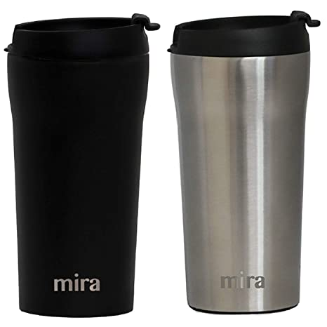 5313579a1ca MIRA 12 oz Stainless Steel Insulated Travel Mug for Coffee & Tea | Vacuum  Insulated Car