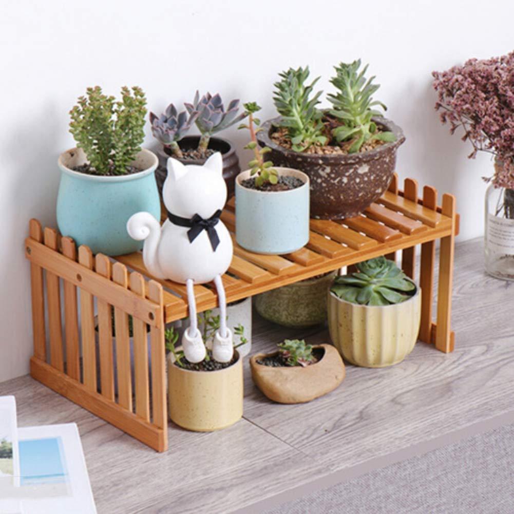 /Étag/ère /à fleurs en bois pr/ésentoir en bois pr/ésentoir pour plantes /à fleurs Stand jardin pile de fleurs /échelle d/écorative planteur balcon
