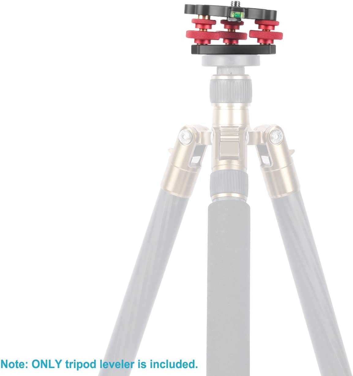 //-5 Degree Precision Adjustment Neewer Photography Tripod Leveler Tri-Wheel Leveling Base with Bubble Level and 3//8 inch Screw 3 Dials with Aluminum Alloy Construction