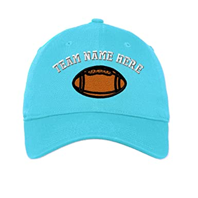 581f7de6253 Low Profile Soft Hat Sport Football Ball Logo E Embroidery Team Cotton Dad  Hat Flat Solid