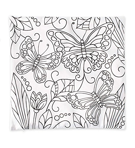 HearthSong Color Pops Color-Your-Own Pillow Kit - Butterfly