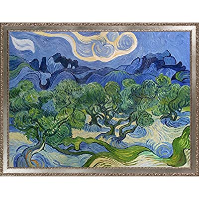 overstockArt VG1031-FR-51322530X40 Olive Trees with the Alpilles in the Background by Vincent Van Gogh Framed Hand Painted Oil on Canvas