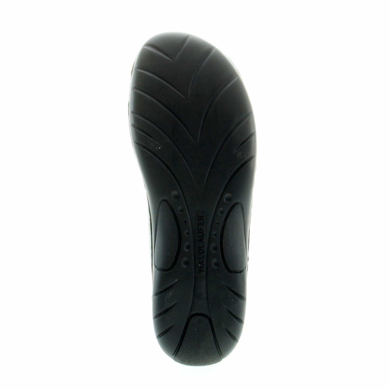Waldläufer Damen Pantoletten bis Komfort Pantolette bis Pantoletten 30mm Sohlenhöhe Gunna 204501 210 001 schwarz 269585 - 302749