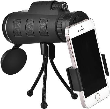 Color : Black, Size : M TnSok Hochaufl/ösendes Monokular-Teleskop 8-40x40 HD-tragbare Mini-Zoom Nachtsicht Handy-Kamera mit einem Fernglas f/ür Wildlife Bird Watching Jagd