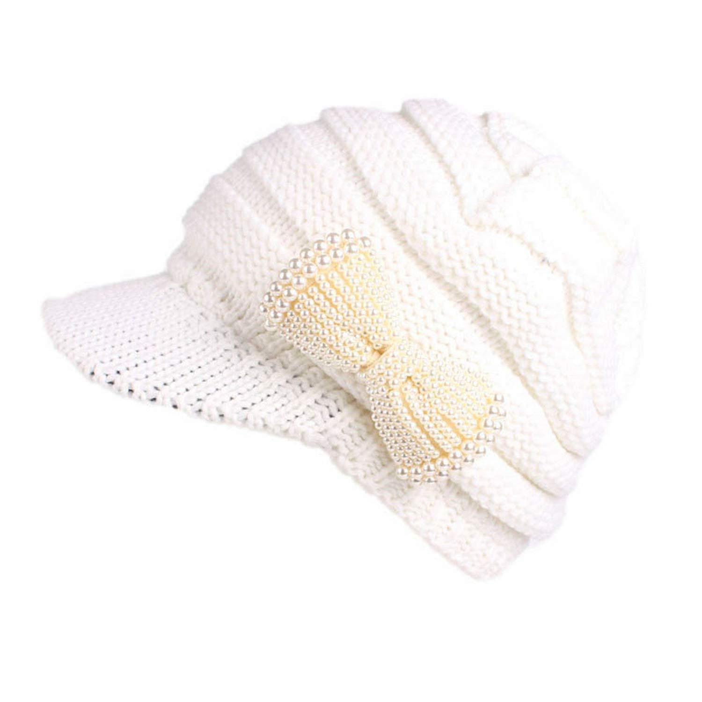 Moktasp Hat Women Berets Turban Brim Ladies Winter Knitting Hat Cap Pile Cap Master Designer