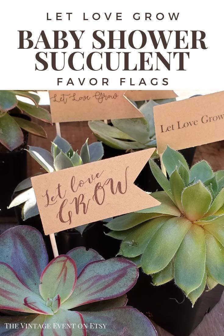 Event Gift Thank You Garden Favors Succulent Favors Custom Party Wedding Shower