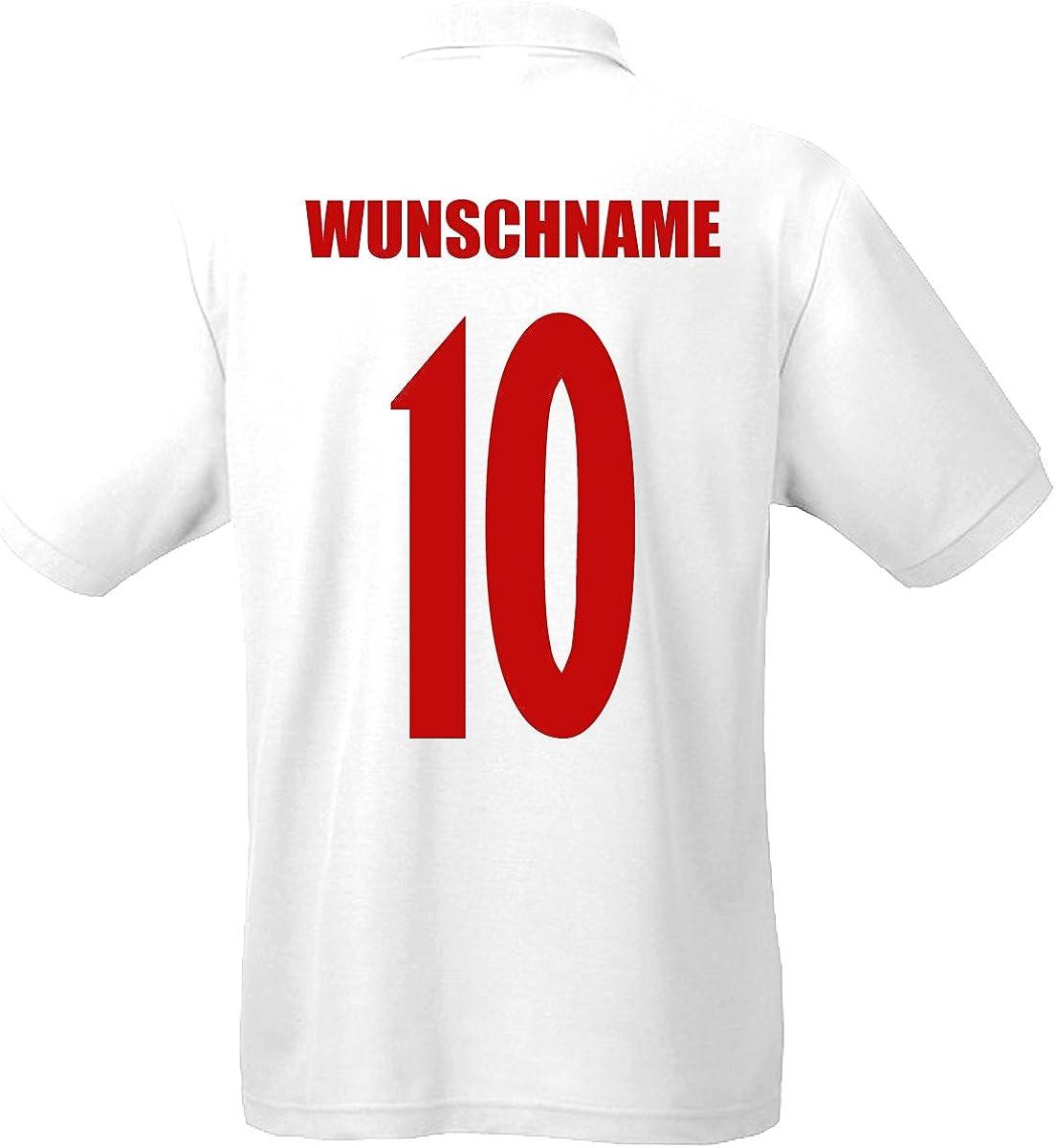 Kroatien Hrvatska EM-2020 Polo-Shirt Wunschname Wunschnummer