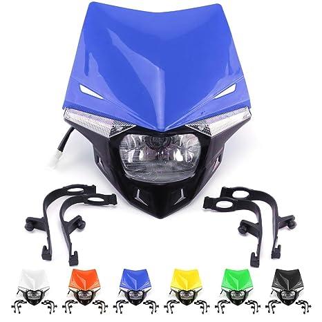 Amazon com: Universal Motorcycle LED Headlight Head Lamp