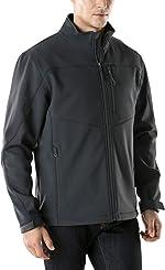 TSLA Men's Full-Zip Softshell Winter Jacket, Waterproof Fleece Lined Athletic Jacket,
