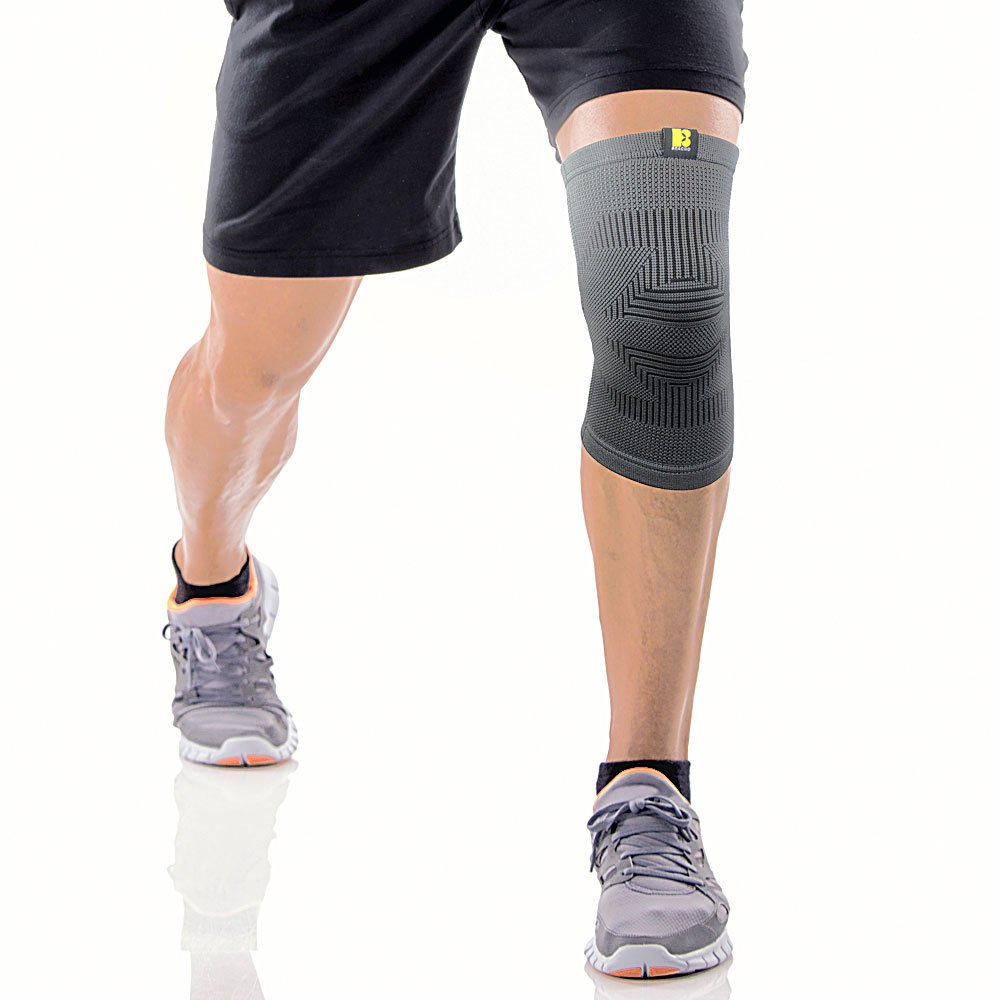 Bracoo PFB Knee Sleeve, Dynamic Elasticated Compression – Athletic Injury Recovery & Prevention, Ideal for Sprains & Strains – Single Sleeve Yasco RK292