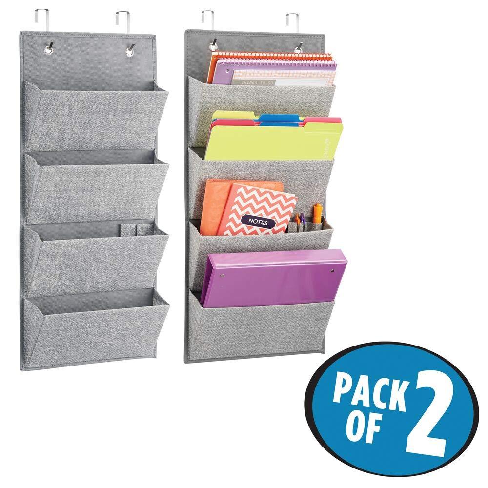 Hängeorganizer Mit 3 Mdesign 2er-set Schrank-organizer grau - 2er Pack