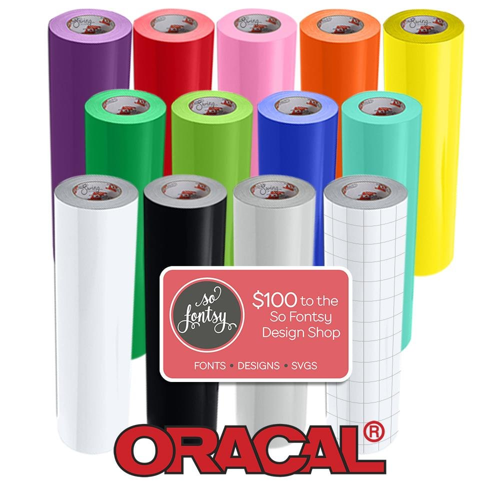 12 Pack of Oracal Glossy 12 Inches by 6 Feet Rolls - 12 Rolls of 651 Permanent Adhesive Vinyl 4336976688
