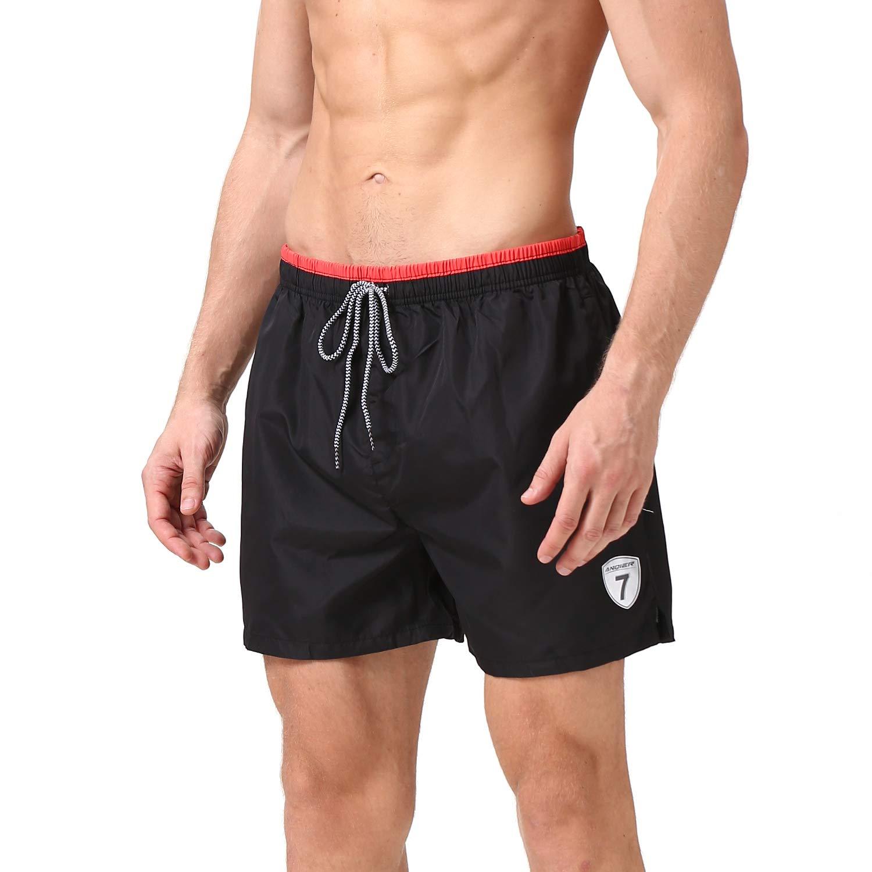 6b35d57550814 Amazon.com: Batuzon Mens Swim Trunks Quick Dry Swim Shorts Elastic Waist  Beach Board Shorts Bathing Suits for Men: Clothing