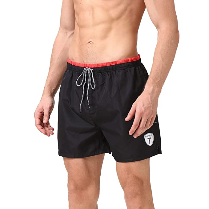d740c49d86 Batuzon Mens Swim Trunks Quick Dry Swim Shorts Elastic Waist Beach Board  Shorts Bathing Suits for