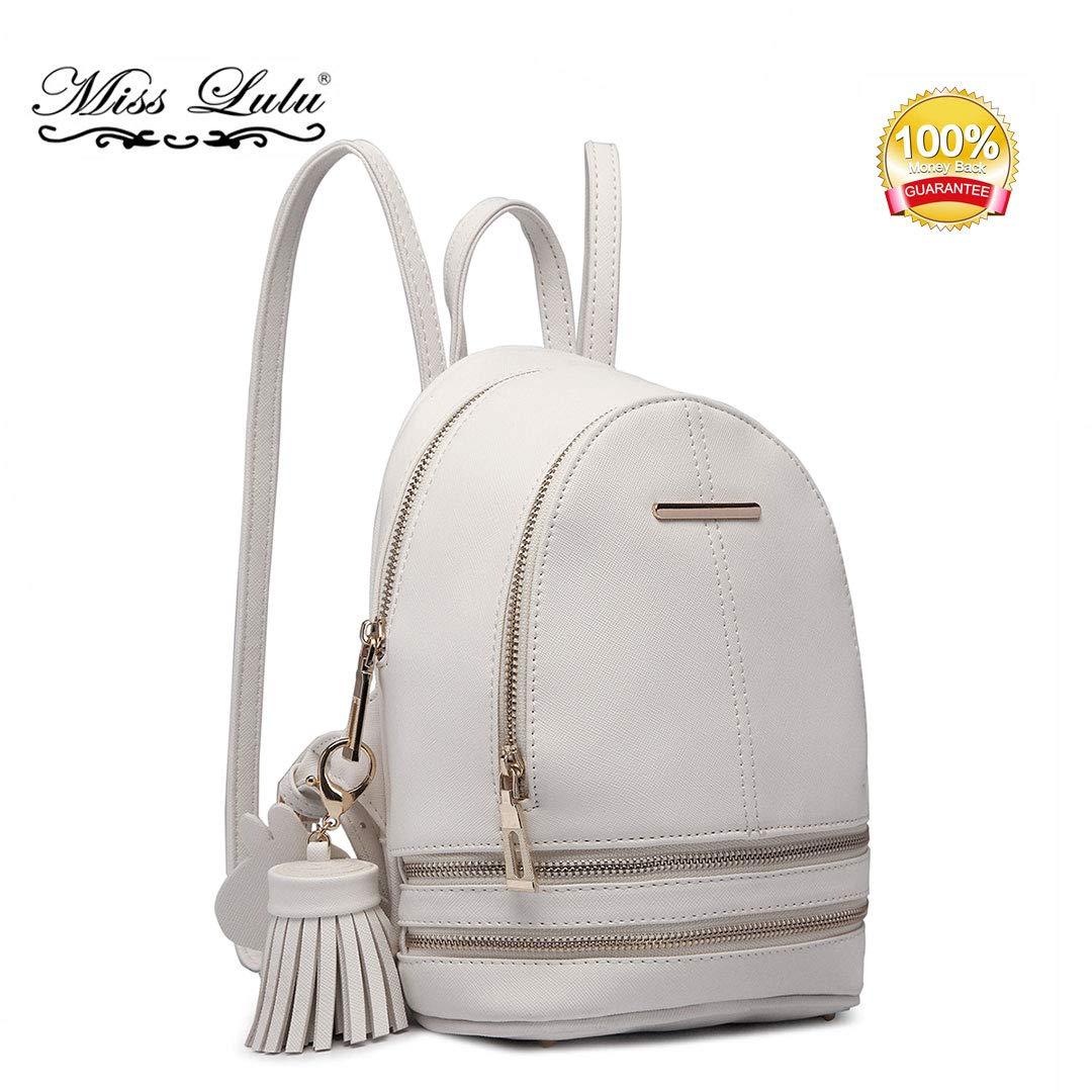 Miss Lulu Bolso mochila para mujer Mochila de cuero de PU Una mochila hermosa