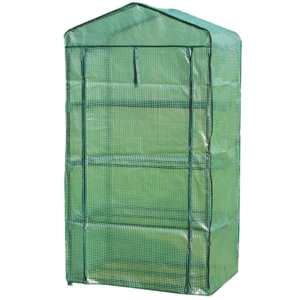 HAIPENG-Serra da Giardino Tunnel Giardinaggio Rinforzati Rinforzati Rinforzati PE Copertina con Roll Up Porta Mini Policarbonato Portatile, 3 Dimensioni (colore   verde, Dimensioni   69x49x158cm) 87ba90