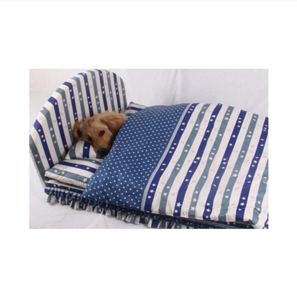 bluee M bluee M Wuwenw New Brand Luxury Noble Princess Pet Bed Dog Bed Cat Mat Sofa Dog House Dog Nest Sleep Cushion Kennel,bluee,M