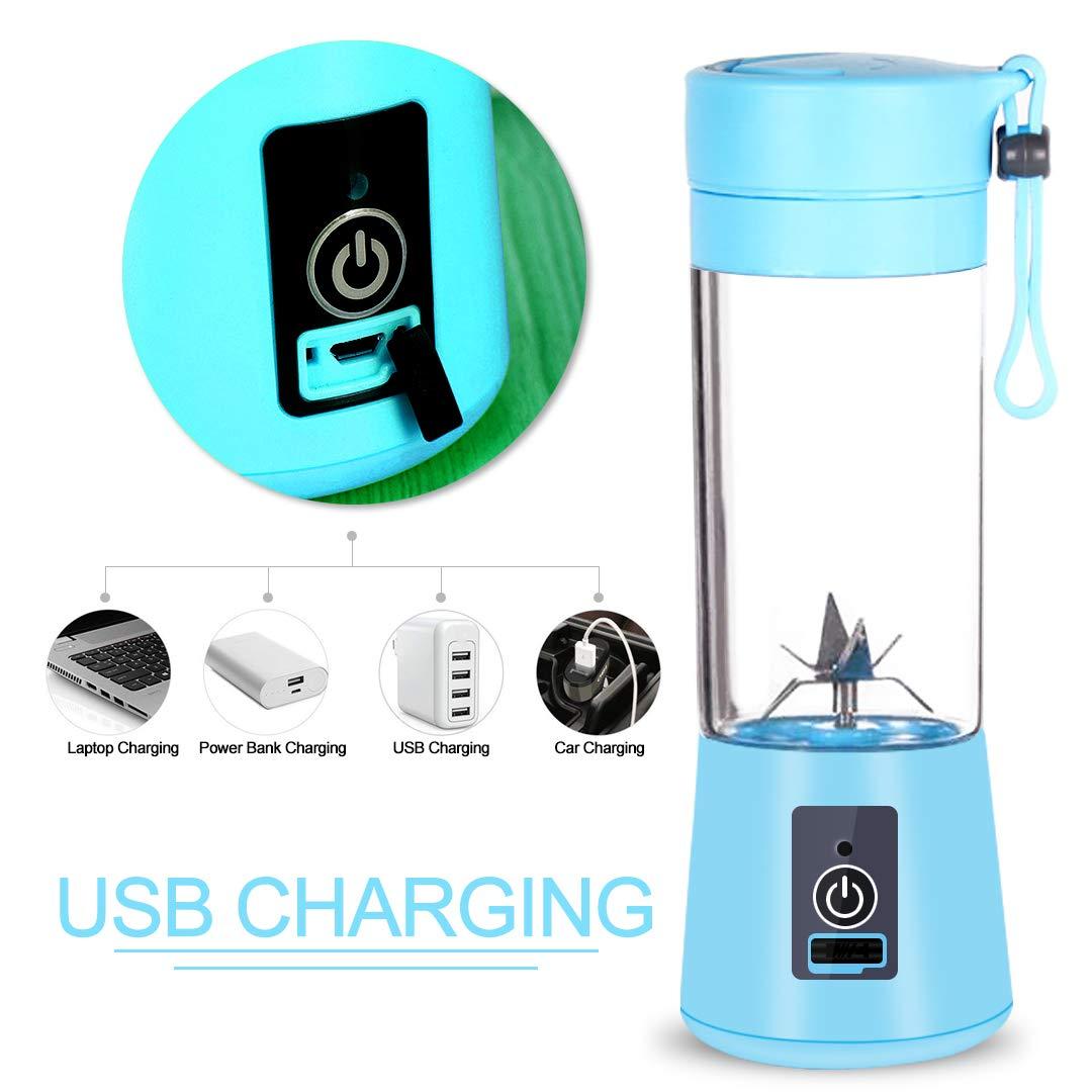 Local Makes A Comeback Recargable Juice Blender con USB,Mini Batidora Port/átil,Juicer Cup with Updated 6 Blades