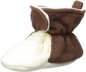 Hudson Baby Cozy Fleece Booties with Non Skid Bottom