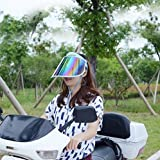 Image SUN VISOR UV PROTECTION HAT CAP HIKING GOLF TENNIS OUTDOOR HAT.Anti-UV UV PROTECTION (Blue)