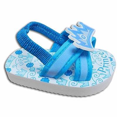 "Baby Boys Flip Flop Sandals Blue Size 5 for 12-18 Months 4.75"" Length"