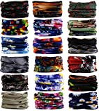 Kingree 18PCS Outdoor Multifunctional Sports Magic Scarf, High Elastic Magic Headband with UV Resistance, Headscarves, Headbands (Style 04)
