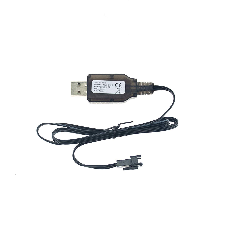 A959-A WLToys A303 Passend f/ür RC Akkus mit 3-poligem Stecker efaso 6,4V USB-Ladekabel