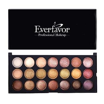 bdb775700c Amazon.com : Everfavor Professional 21 Color Makeup Palette, High Pigmented  Eye Shadow Palettes Shimmer Baked Eyeshadow Palette Colorful Eye Shadows  (21 ...