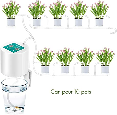 Peahop - Sistema de riego automático para el jardín de casa, Sistema de riego por Goteo, Temporizador, Kit de riego automático por Goteo: Amazon.es: Hogar