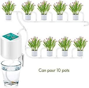 Comtervi - Aparato de riego automático, Inteligente para jardín, regadío, Sistema de riego automático por Goteo, Ideal para el riego de Las Plantas Durante Las Vacaciones.: Amazon.es: Hogar