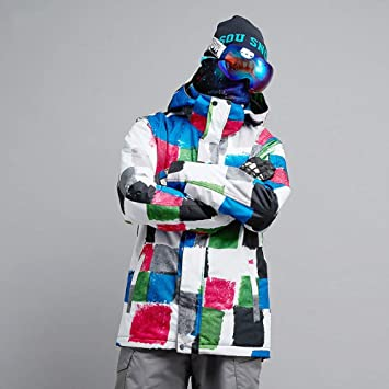 KD Invierno al Aire Libre Chaqueta de esquí Chaqueta Impermeable frío Invierno Caliente esquí Chaqueta Invierno