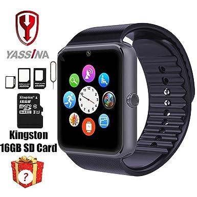 Reloj inteligente portátil Bluetooth con ranura de tarjeta SIM y NFC Smart salud reloj para Android