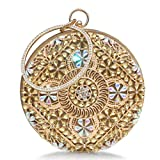 Best Circle Handbags - Womens Evening Bag Round Rhinestone Crystal Clutch Purse Review