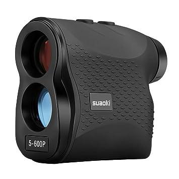Review SUAOKI Golf Range Finder Laser Rangefinder 656 Yards/600 Meters Flag-Lock, Fog, Distance, Speed Measurement, Black