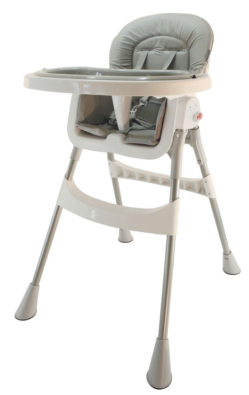 Bieco 45000001 - Kinderhochstuhl grau - ca. 92 x 60 x 43 -5 cm - mit Sicherheitsgurt - zusammenklappbar