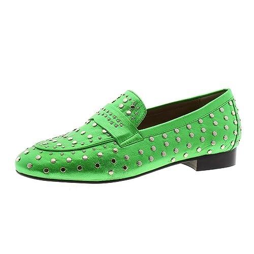 Zapatos Mujer Mocasines Naúticos Toral 10801 Verde 38: Amazon.es: Zapatos y complementos