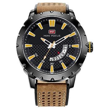 QRMH Relojes Deportivos para los Hombres de imitación de Cuero Reloj Reloj de Pulsera Mejor: Amazon.es: Deportes y aire libre