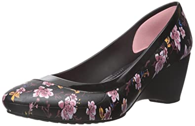 f3963ae0511 Image Unavailable. Image not available for. Color  Crocs Women s Lina  Graphic W Wedge Pump